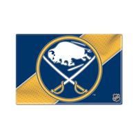 "Picture of Buffalo Sabres Rectangle Button, carded 2"" x 3"""