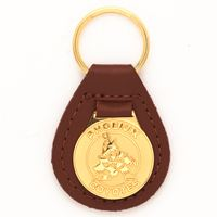 Picture of Arizona Coyotes Leather Key Ring