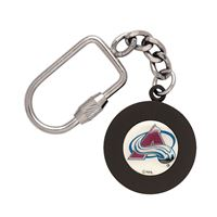 Picture of Colorado Avalanche Key Ring Puck Shaped