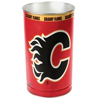 "Picture of Calgary Flames Wastebasket - tapered 15""H"