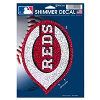 "Picture of Cincinnati Reds Shimmer Decals 5"" x 7"""