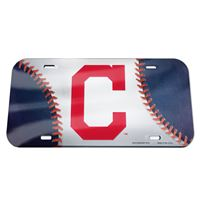 Picture of Cleveland Indians Crystal Mirror License Plate