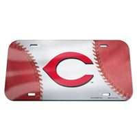 Picture of Cincinnati Reds Crystal Mirror License Plate