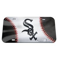 Picture of Chicago White Sox Crystal Mirror License Plate