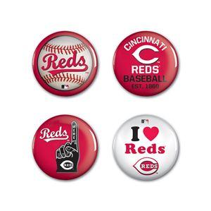 SETeamShop  Cincinnati Reds Button 4 Pack 1 1/4