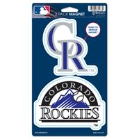 "Picture of Colorado Rockies 2 Pack Magnets 5"" x 9"""