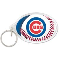Picture of Chicago Cubs Acrylic Key Ring Carded Oval