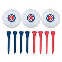 Picture of Chicago Cubs 3 Golf Balls w/Tees