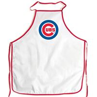 Picture of Chicago Cubs Barbeque Aprons - white