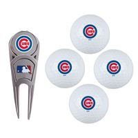 Picture of Chicago Cubs 4 Ball Gift Set w/Divot Tool, Marker