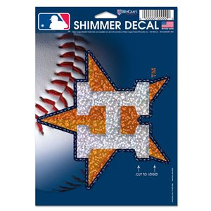 """Picture of Houston Astros Shimmer Decals 5"""" x 7"""""""
