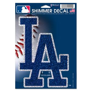 "Picture of Los Angeles Dodgers Shimmer Decals 5"" x 7"""