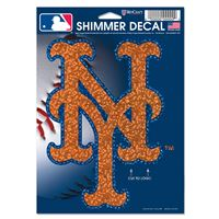 "Picture of New York Mets Shimmer Decals 5"" x 7"""