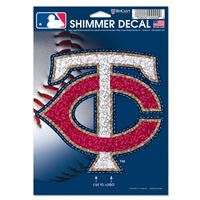 "Picture of Minnesota Twins Shimmer Decals 5"" x 7"""
