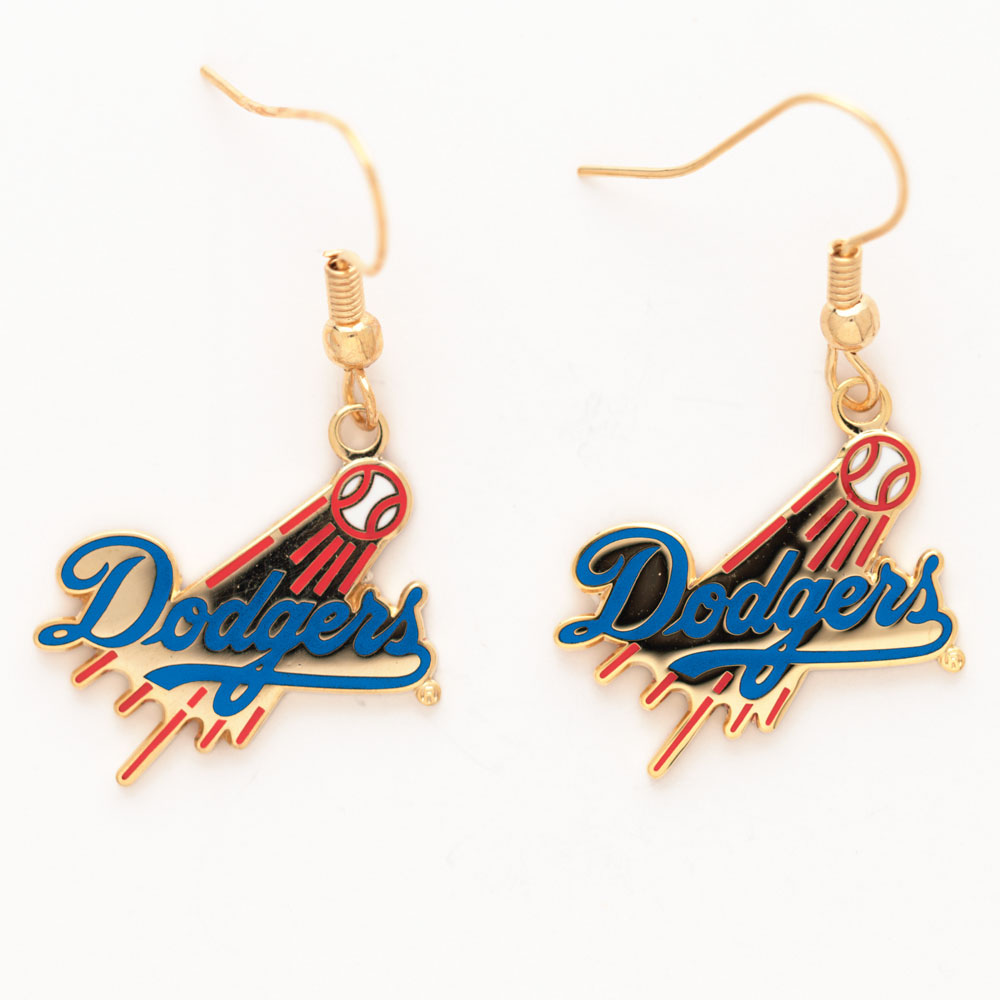 Picture Of Los Angeles Dodgers Earrings Jewelry Card