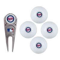 Picture of Minnesota Twins 4 Ball Gift Set w/Divot Tool, Marker