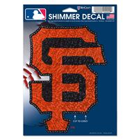 "Picture of San Francisco Giants Shimmer Decals 5"" x 7"""