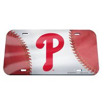 Picture of Philadelphia Phillies Crystal Mirror License Plate
