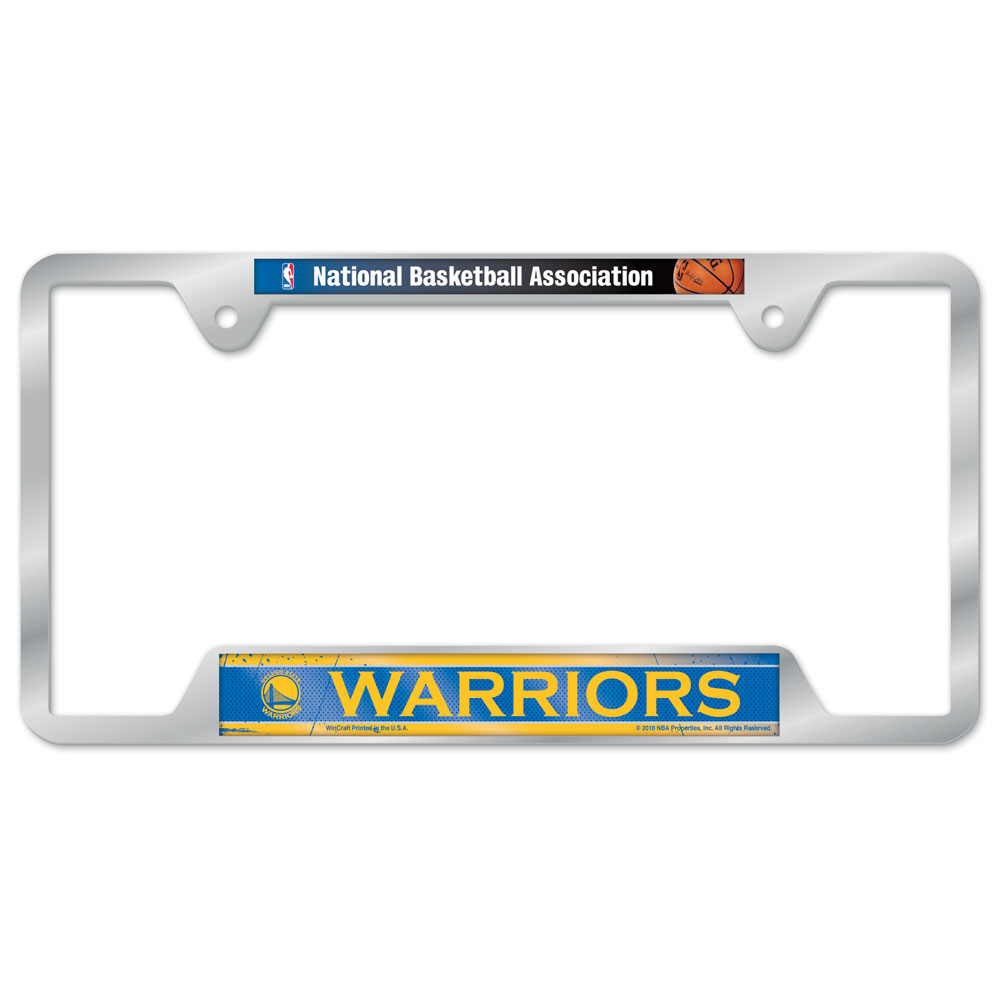 SETeamShop. Golden State Warriors Metal License Plate Frame
