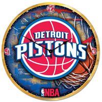 "Picture of Detroit Pistons Plaque HD Clock 18"" Dia"