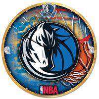 """Picture of Dallas Mavericks Plaque HD Clock 18"""" Dia"""