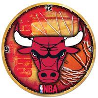 """Picture of Chicago Bulls Plaque HD Clock 18"""" Dia"""