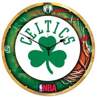 """Picture of Boston Celtics Plaque HD Clock 18"""" Dia"""