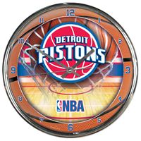 Picture of Detroit Pistons Chrome Clock