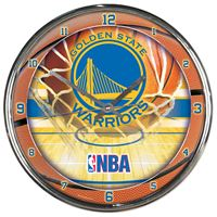 Picture of Golden State Warriors Chrome Clock