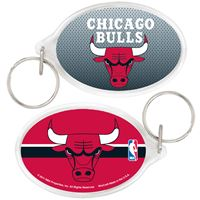 Picture of Chicago Bulls Acrylic Key Ring Oval