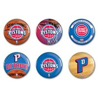 "Picture of Detroit Pistons Button 6 Pack 2"" Round"