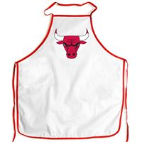 Picture of Chicago Bulls Barbeque Aprons - white