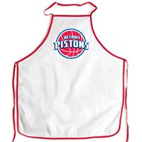 Picture of Detroit Pistons Barbeque Aprons - white
