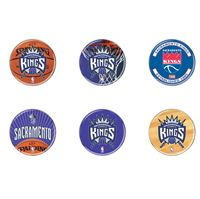 """Picture of Sacramento Kings Button 6 Pack 2"""" Round"""