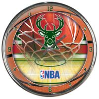 Picture of Milwaukee Bucks Chrome Clock