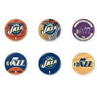 """Picture of Utah Jazz Button 6 Pack 2"""" Round"""