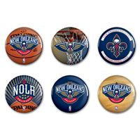 """Picture of New Orleans Pelicans Button 6 Pack 2"""" Round"""