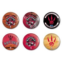 "Picture of Toronto Raptors Button 6 Pack 2"" Round"