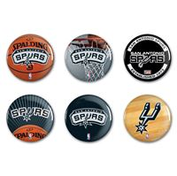 "Picture of San Antonio Spurs Button 6 Pack 2"" Round"