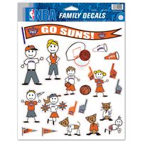"""Picture of Phoenix Suns Family Decal Sheet 85"""" x 11"""""""