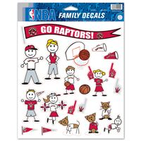 "Picture of Toronto Raptors Family Decal Sheet 85"" x 11"""