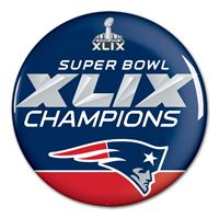 Picture of New England Patriots Button, bulk 3""