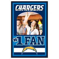 Picture of San Diego Chargers Mirror Wood Sign