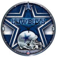 "Picture of Dallas Cowboys Plaque HD Clock 18"" Dia"