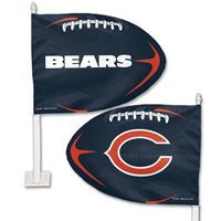 Picture of Chicago Bears Shaped Car Flag