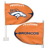 Picture of Denver Broncos Shaped Car Flag