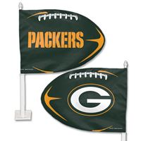 Picture of Green Bay Packers Shaped Car Flag