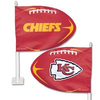 Picture of Kansas City Chiefs Shaped Car Flag