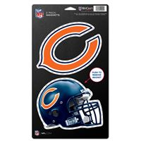 "Picture of Chicago Bears 2 Pack Magnets 5"" x 9"""