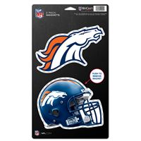 "Picture of Denver Broncos 2 Pack Magnets 5"" x 9"""